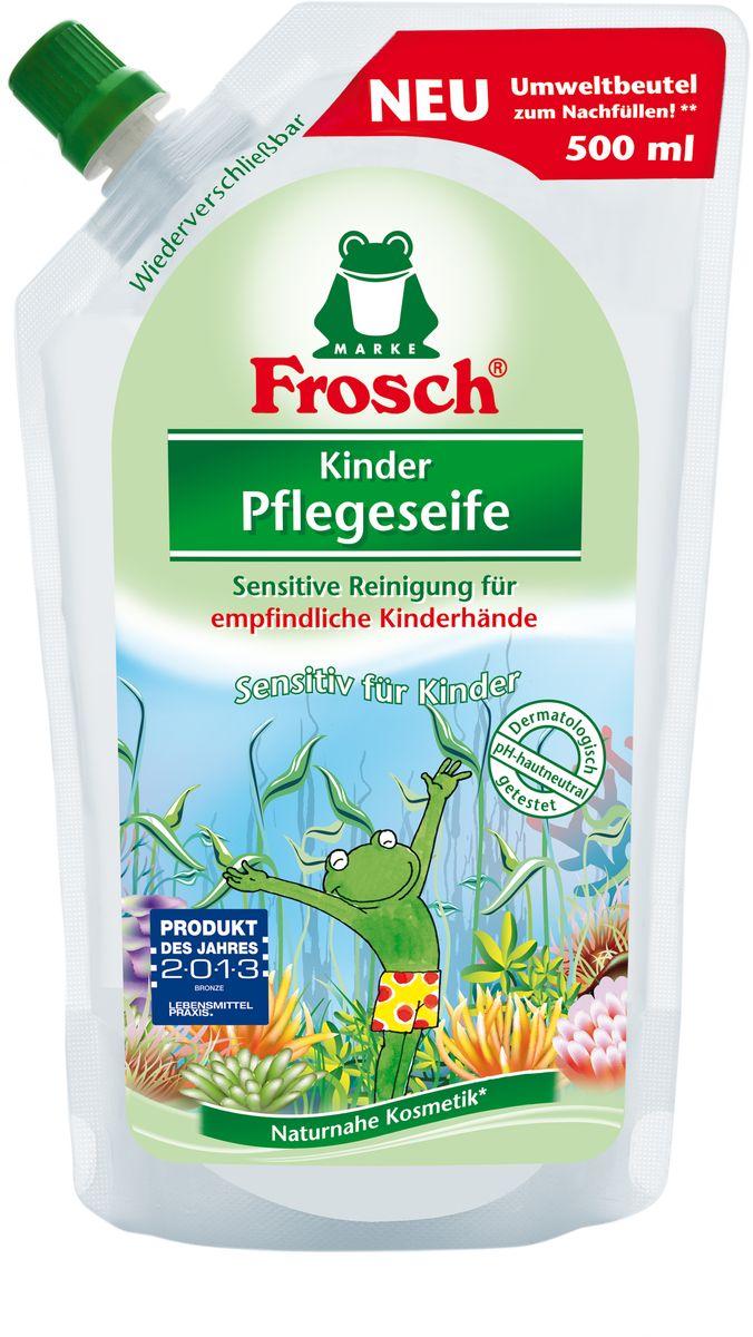 """Жидкое детское мыло для рук """"Frosch"""", ухаживающее, сменная упаковка, 500 мл 101599"""