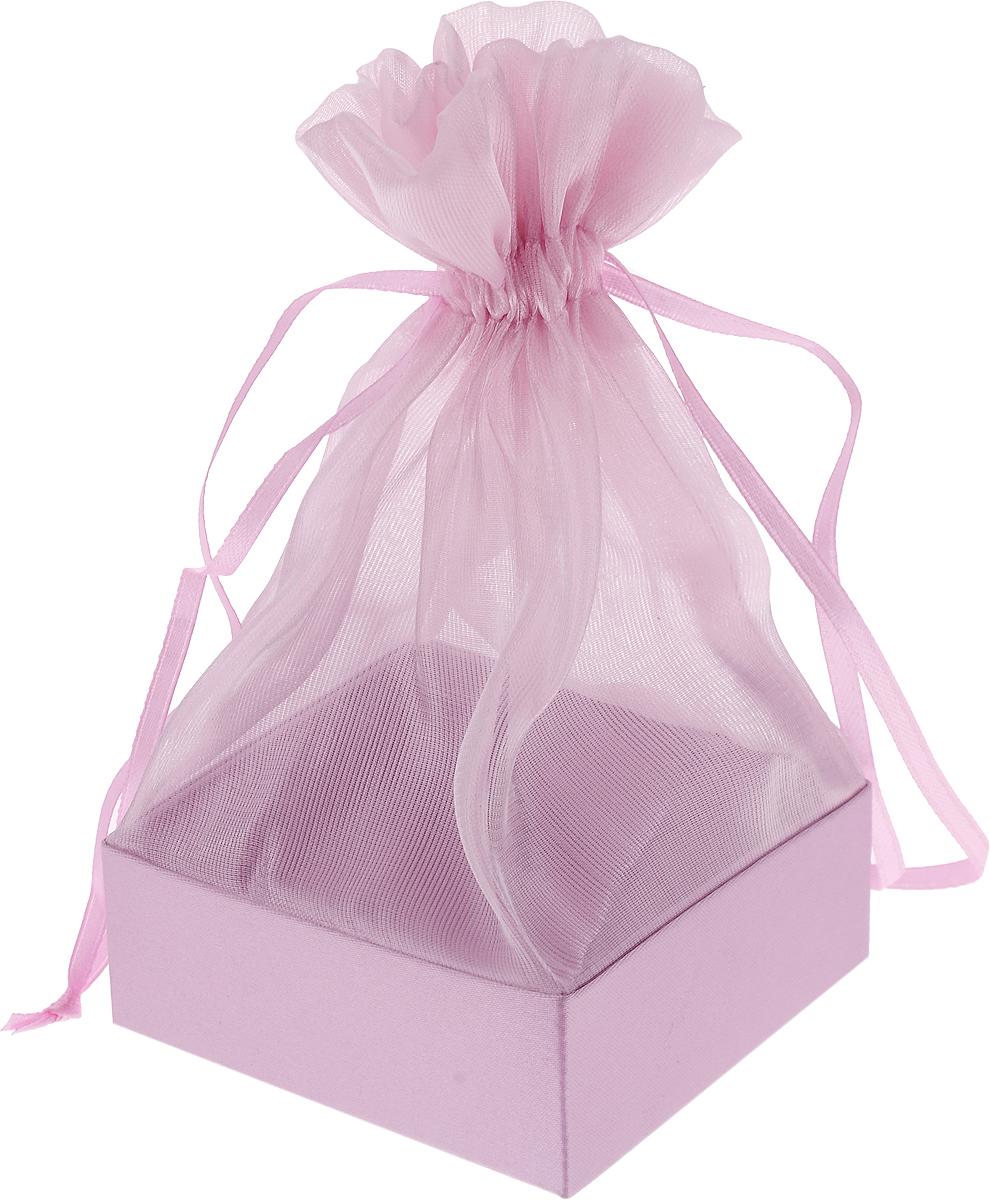 Коробочка для подарка Piovaccari Тиффани, цвет: розовый 7,5 х 7,5 х 15 см1898P 03Коробочка для подарка Piovaccari Тиффани выполнена в виде мешочка из полупрозрачной органзы с квадратным основанием из твердого картона. Изделие на кулиске затягивается с помощью лент. Piovaccari Тиффани станет одним из самых оригинальных вариантов упаковки для подарка. Изысканный дизайн будет долго напоминать владельцу о трогательных моментах получения подарка.