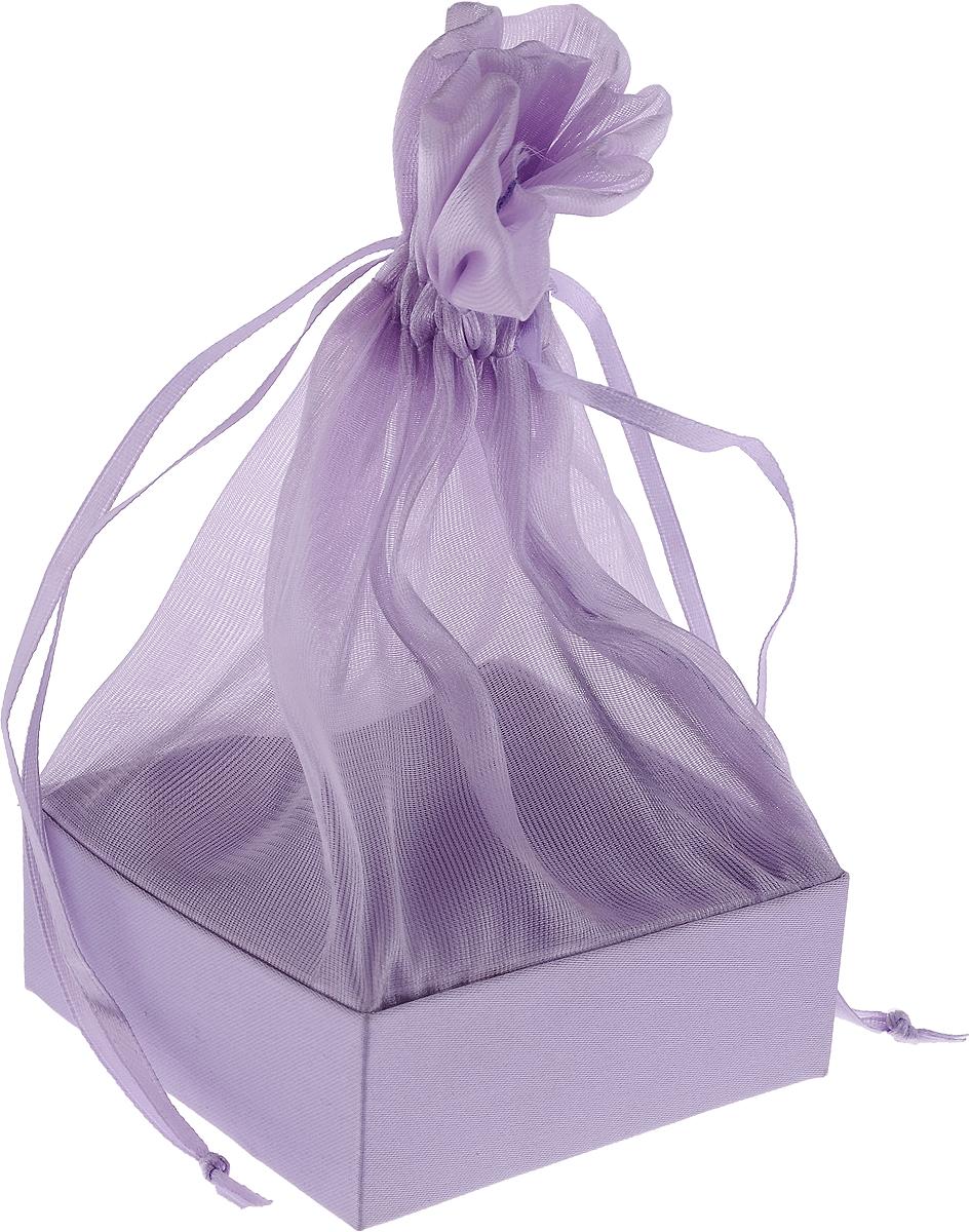 Коробочка для подарка Piovaccari Тиффани, цвет: сиреневый, 7,5 х 7,5 х 15 см1898P 44Коробочка для подарка Piovaccari Тиффани выполнена в виде мешочка из полупрозрачной органзы с квадратным основанием из твердого картона. Изделие на кулиске затягивается с помощью лент. Piovaccari Тиффани станет одним из самых оригинальных вариантов упаковки для подарка. Изысканный дизайн будет долго напоминать владельцу о трогательных моментах получения подарка.