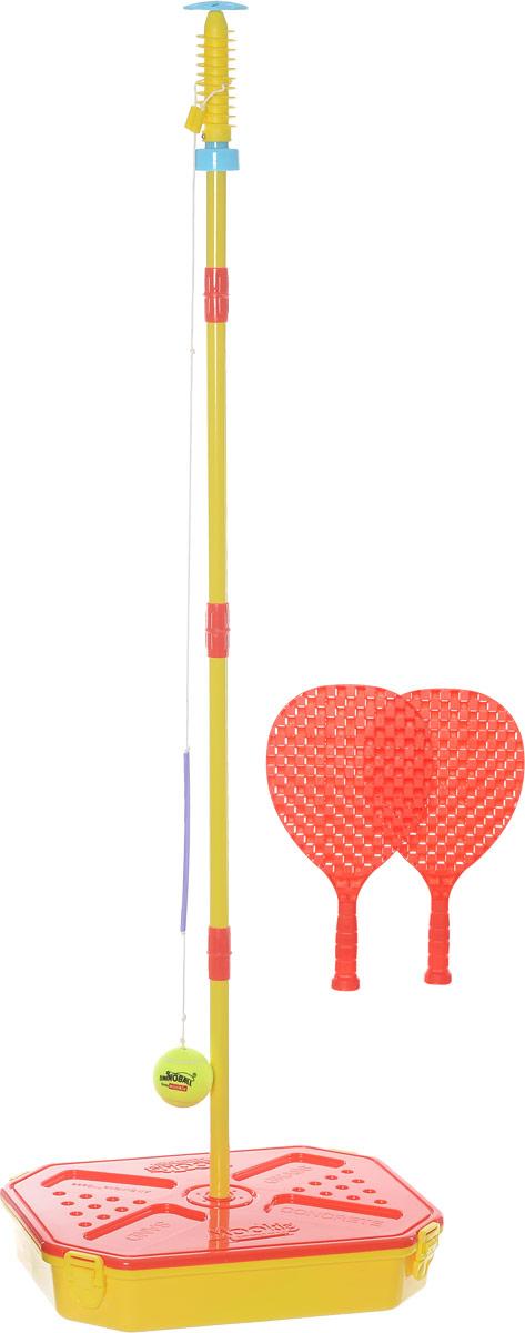 Mookie Игровой набор Веселый теннис цвет красный желтый