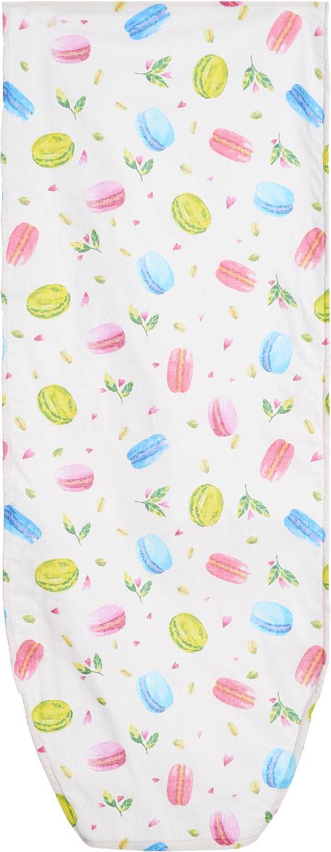 Чехол для гладильной доски Nika, универсальный, с поролоном, цвет: розовый, голубой, зеленый, 129 х 51 смЧП2_розовый, голубой, зелёныйЧехол Nika, выполненный из бязи (100% хлопок) и поролона, продлит срок службы вашей гладильной доски. Чехол снабжен стягивающим шнуром, при помощи которого вы легко отрегулируете оптимальное натяжение и зафиксируете чехол на рабочей поверхности гладильной доски. Чехол оформлен красивым рисунком, что оживит внешний вид вашей гладильной доски. Размер чехла: 129 х 51 см. Максимальный размер доски: 125 х 42 см.