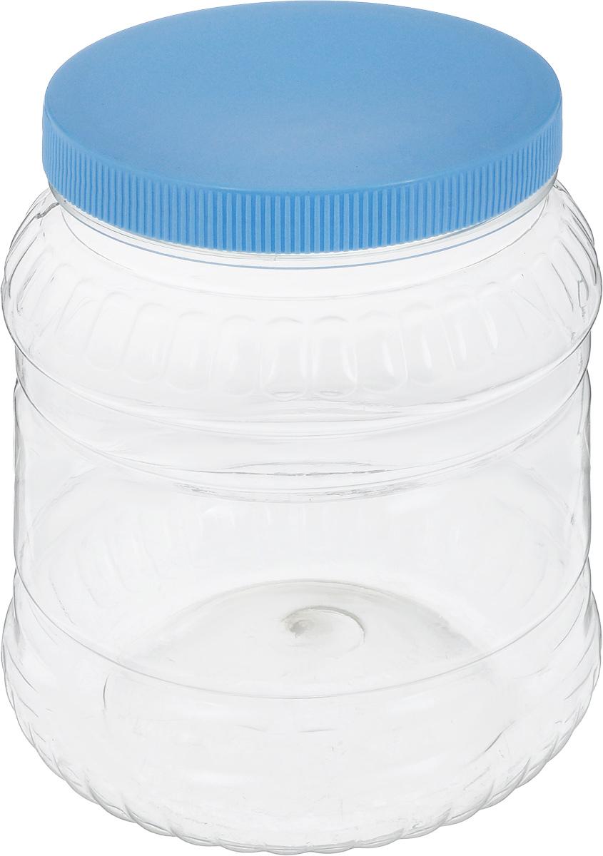 Банка для сыпучих продуктов Альтернатива, цвет: голубой, прозрачный, 1,5 лМ490_ГолубойБанка для сыпучих продуктов Альтернатива, изготовленная из высококачественной пластмассы, станет незаменимым помощником на любой кухне. В ней будет удобно хранить сыпучие продукты, такие, как чай, кофе, соль, сахар, крупы, макароны и многое другое. Емкость плотно закрывается крышкой. Яркий дизайн банки позволит украсить любую кухню, внеся разнообразие как в строгий классический стиль, так и в современный кухонный интерьер. Диаметр банки (по верхнему краю): 10,5 см. Высота банки (с учетом крышки): 16,5 см.