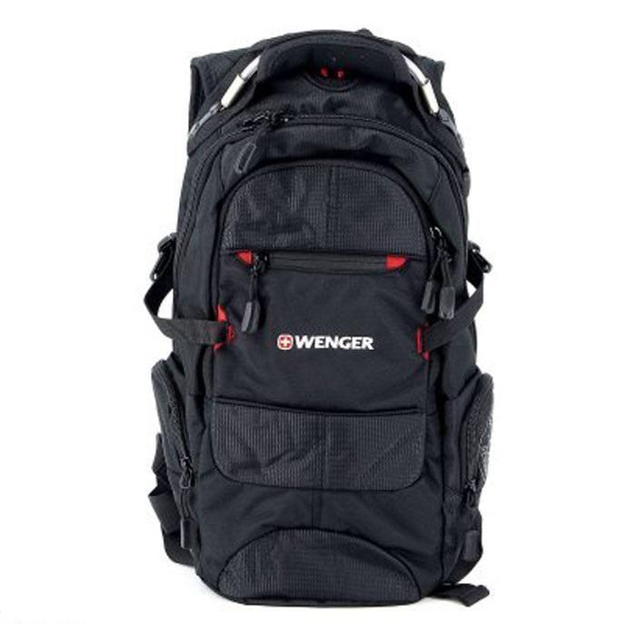 Рюкзак Wenger Narrow Hiking Pack, цвет: черный, красный, 46 х 23 х 14 см, 19 л13022215Рюкзак Wenger Narrow Hiking Pack - это самодостаточный, многофункциональный и надежный спутник своего владельца, как и знаменитый швейцарский нож! Благодаря многофункциональности рюкзака, вы можете легко организовать свои вещи, отправив ключи, мобильный телефон и еще тысячу мелочей в специальный карман-органайзер. После этого останется еще много места для других необходимых вещей. Рюкзаки и сумки Wenger - это прежде всего современные материалы и фурнитура от надежных поставщиков и швейцарский контроль качества, благодаря которому репутация компании была и остается столь высокой. Продуманная конструкция и современные технологии проявляются главным образом в потрясающей надежности рюкзаков и сумок Wenger. А ведь надежность - самое важное качество и в амуниции, и в людях! Особенности рюкзака: Внешние карманы: многочисленные внешние карманы обеспечивают легкий доступ к наиболее часто используемым предметам. Плечевые ремни: эргономичные плечевые ремни...