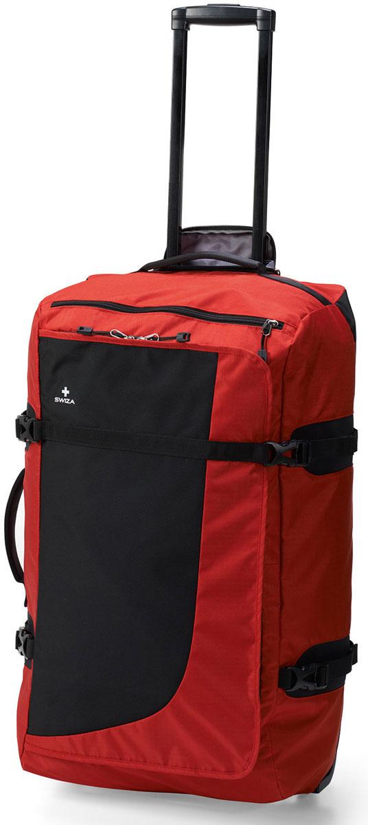 Сумка дорожная SWIZA Continuas L,на колесах, цвет: красный, 69 х 38 х 28 смLWD.1003.03Наша сумка CONTINUAS на колесах - это лучшая сумка для активного путешественника, которому необходимо многофункциональное и очень износостойкое решение для любой поездки. Изготовлен из прочного нейлона 600D и имеет большое основное отделение, карман на молнии для многофункционального использования, прижимающий ремешок, легко вращающиеся износостойкие колеса и телескопическую ручку. С такой сумкой можно собираться в путь в любой пункт назначения и на любое время
