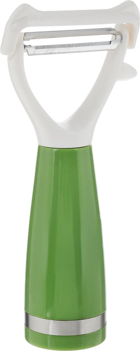 Овощечистка Sterlingg, длина 16 см23322Овощечистка Sterlingg выполнена из металла и пластика. Очень удобная ручка не позволит выскользнуть овощечистке из вашей руки. Удобная овощечистка Sterlingg поможет вам очень быстро и без особого усилия почистить овощи. Можно мыть в посудомоечной машине. Общая длина овощечистки: 16 см.