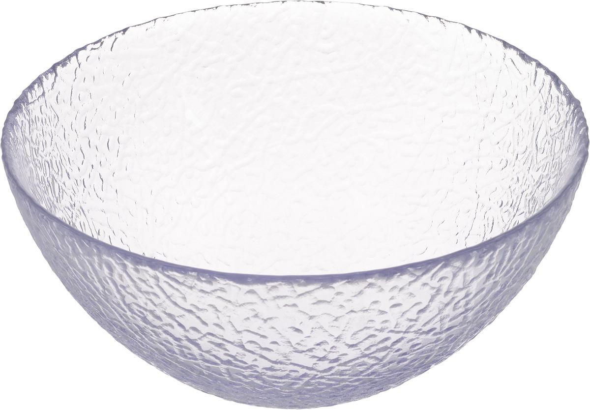 Салатник NiNaGlass Ажур, цвет: светло-сиреневый, диаметр 20 см83-042-ф200 ЛАВАНСалатник NiNaGlass Ажур выполнен из высококачественного стекла и декорирован рельефным узором. Идеален для сервировки салатов, овощей и фруктов, ягод, вторых блюд, гарниров и многого другого. Он отлично подойдет как для повседневных, так и для торжественных случаев. Такой салатник прекрасно впишется в интерьер вашей кухни и станет достойным дополнением к кухонному инвентарю. Диаметр салатника (по верхнему краю): 20 см. Высота стенки: 9 см.