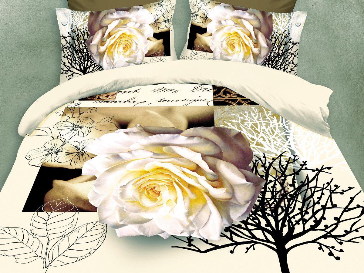Комплект белья Cleo Роза Декор, евро, наволочки 50х70, 70х7031/092-PS