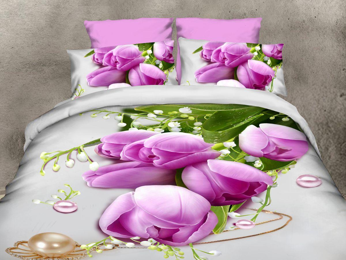 Комплект белья Cleo Тюльпаны и Ландыши, евро, наволочки 50х70, 70х7031/095-PS