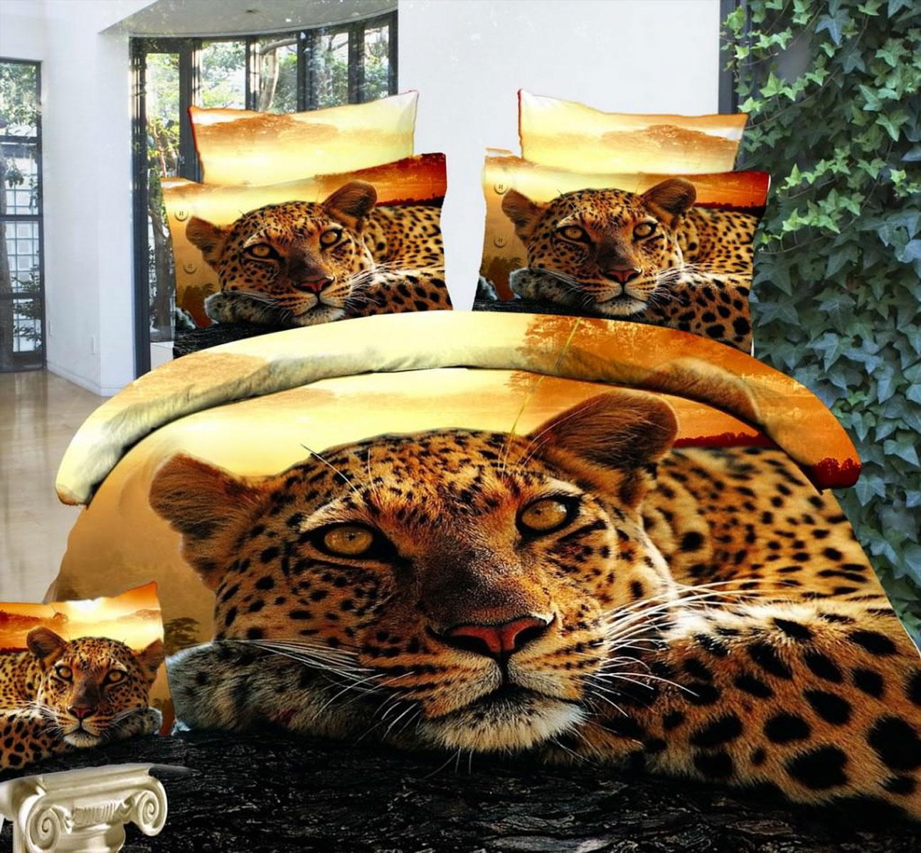 Комплект белья 3D Mango Гепард, 1,5-спальный, наволочки 70х70M-694-143-150-70Комплект постельного белья 3D Mango Гепард, изготовленный из сатина (100% хлопка), являющегося экологически чистым продуктом, поможет вам расслабиться и подарит спокойный сон. Комплект состоит из пододеяльника, простыни и двух наволочек. Предметы комплекта оформлены изображением гепарда. Постельное белье имеет и привлекающий внешний вид и обладает яркими, сочными цветами. Благодаря такому комплекту постельного белья вы сможете создать атмосферу уюта и комфорта в вашей спальне.