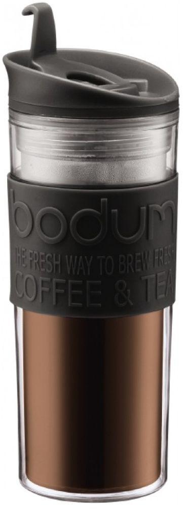 Термокружка Bodum Travel, цвет: черный, 450 мл11101-01