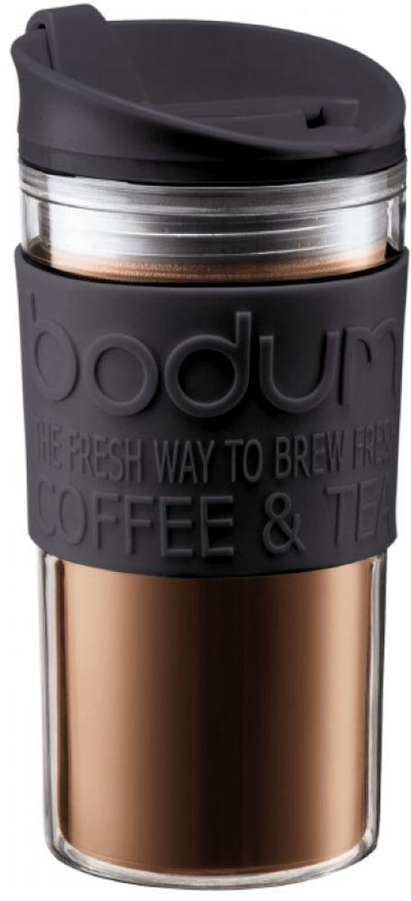 Термокружка Bodum Travel, цвет: черный, 350 мл11103-01