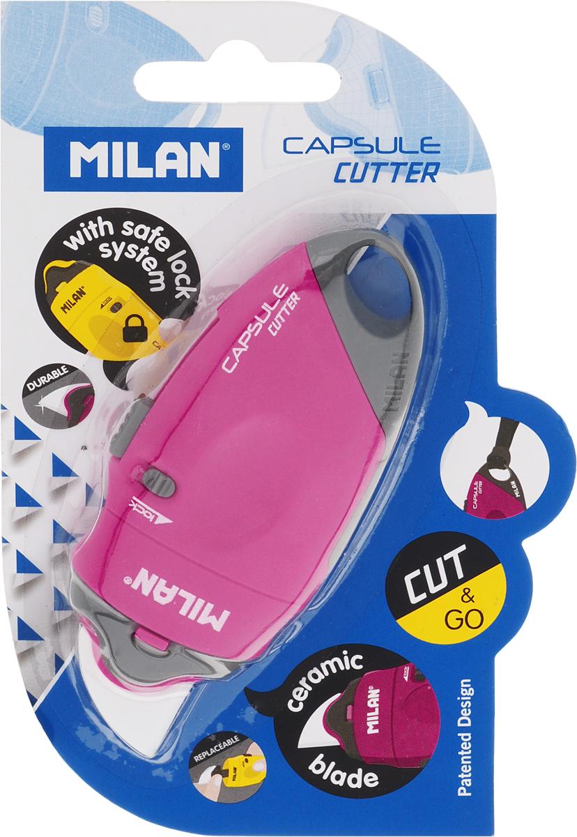 Milan Нож канцелярский с керамическим лезвием 18 мм цвет розовыйBWM10337_розовыйНож канцелярский Milan имеет пластиковый оригинальный корпус с керамическим лезвием 18 мм.