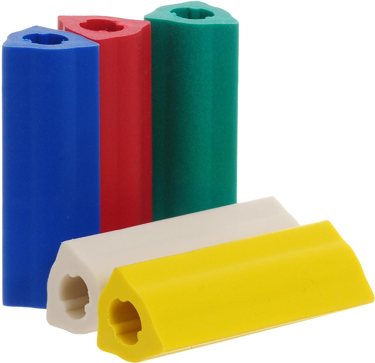 Faber-Castell Ластик-манжетка 5 шт185205Ластик Faber-Castell может быть использован в качестве манжетки для карандашей. У ластика эргономичная трехгранная форма, не содержит ПВХ.