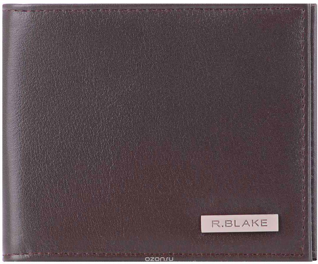 Портмоне мужское R.Blake Porto Light Dallas, цвет: коричневый. GPOL00-00KN00-D8413O-K100GPOL00-00KN00-D8413O-K100Компактное мужское портмоне R.Blake выполнено из натуральной кожи шоколадного цвета. Внутренняя отделка из чёрной матовой кожи. Внутри два отделения для купюр, 4 кармана для кредитных карт. Отделение для мелочи на скрытой кнопке.