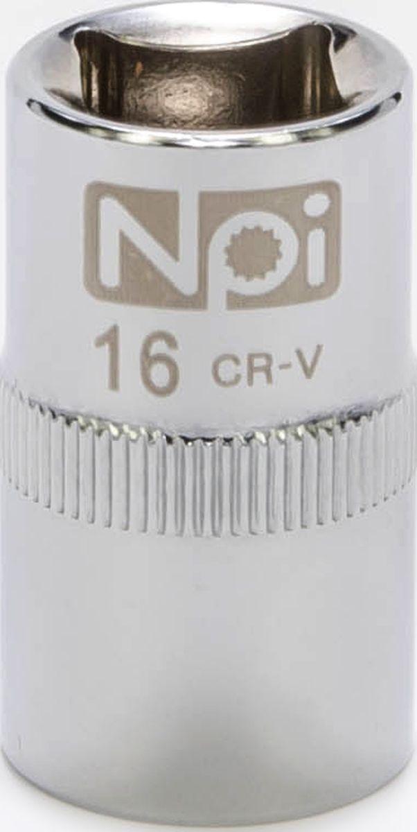 Головка торцевая NPI SuperLock, 1/2, 16 мм20016Головка торцевая NPI 1/2. Тип 1/2. Торцевая головка NPI применяется с гайковертами, трещетками, воротками. Торцевая головка выполнена по технологии Суперлок. Торцевая головка обеспечивает максимальный крутящий момент по отношению к резьбе и выдерживает ударные нагрузки. Материал - высокопрочная хром-ванадиевая сталь. Соответствует стандарту DIN 3124