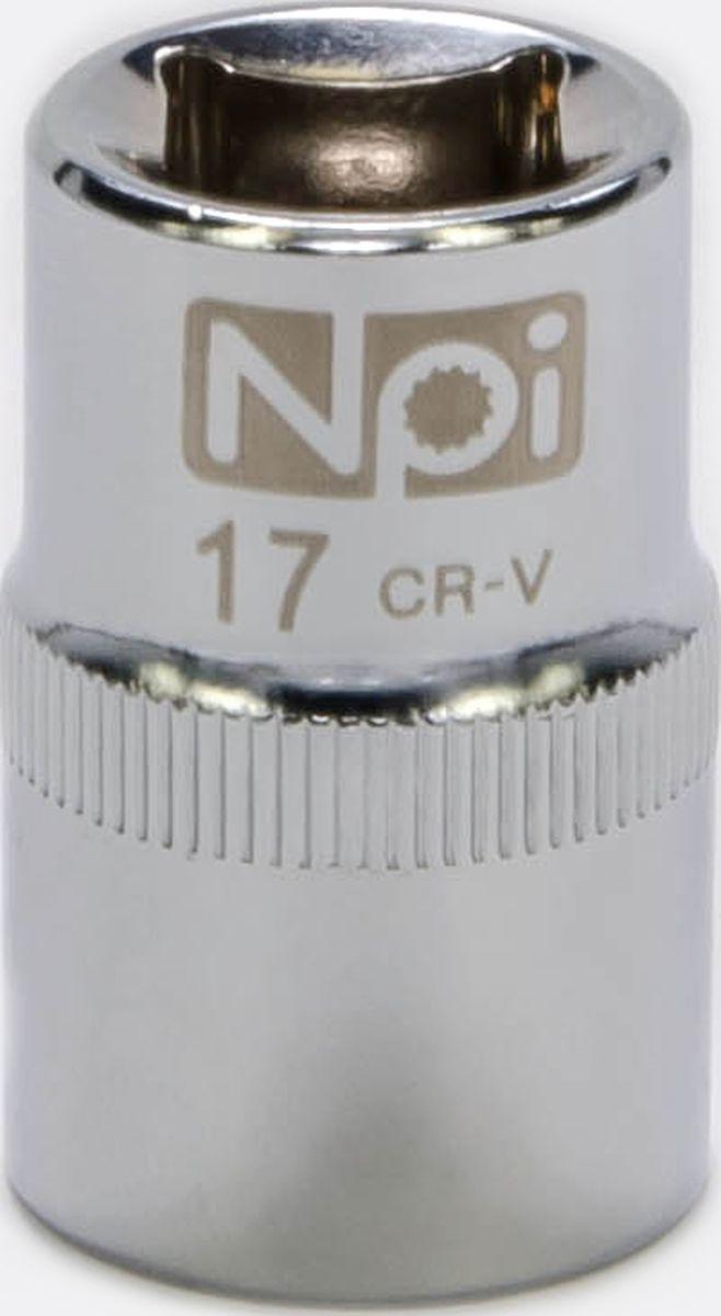 Головка торцевая NPI SuperLock, 1/2, 17 мм20017Головка торцевая NPI 1/2. Тип 1/2. Торцевая головка NPI применяется с гайковертами, трещетками, воротками. Торцевая головка выполнена по технологии Суперлок. Торцевая головка обеспечивает максимальный крутящий момент по отношению к резьбе и выдерживает ударные нагрузки. Материал - высокопрочная хром-ванадиевая сталь. Соответствует стандарту DIN 3124