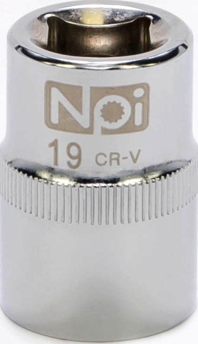 Головка торцевая NPI SuperLock, 1/2, 19 мм20019Головка торцевая NPI 1/2. Тип 1/2. Торцевая головка NPI применяется с гайковертами, трещетками, воротками. Торцевая головка выполнена по технологии Суперлок. Торцевая головка обеспечивает максимальный крутящий момент по отношению к резьбе и выдерживает ударные нагрузки. Материал - высокопрочная хром-ванадиевая сталь. Соответствует стандарту DIN 3124