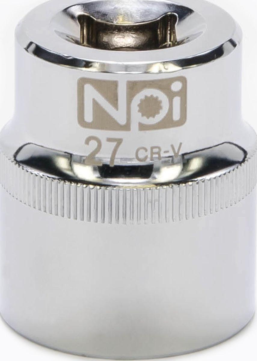 Головка торцевая NPI SuperLock, 1/2, 27 мм20027Головка торцевая NPI 1/2. Тип 1/2. Торцевая головка NPI применяется с гайковертами, трещетками, воротками. Торцевая головка выполнена по технологии Суперлок. Торцевая головка обеспечивает максимальный крутящий момент по отношению к резьбе и выдерживает ударные нагрузки. Материал - высокопрочная хром-ванадиевая сталь. Соответствует стандарту DIN 3124