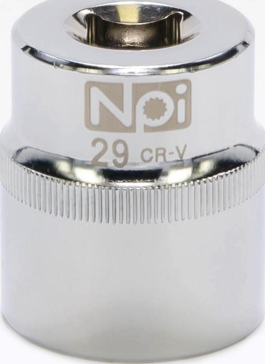 Головка торцевая NPI SuperLock, 1/2, 29 мм20029Головка торцевая NPI 1/2. Тип 1/2. Торцевая головка NPI применяется с гайковертами, трещетками, воротками. Торцевая головка выполнена по технологии Суперлок. Торцевая головка обеспечивает максимальный крутящий момент по отношению к резьбе и выдерживает ударные нагрузки. Материал - высокопрочная хром-ванадиевая сталь. Соответствует стандарту DIN 3124