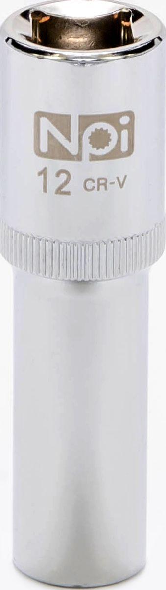 Головка торцевая удлиненная NPI, 1/2, 12 мм20042Головка торцевая удлиненная NPI 1/2. Тип 1/2. Торцевая головка NPI применяется с гайковертами, трещетками, воротками. Торцевая головка выполнена по технологии Суперлок. Торцевая головка обеспечивает максимальный крутящий момент по отношению к резьбе и выдерживает ударные нагрузки. Материал - высокопрочная хром-ванадиевая сталь. Соответствует стандарту DIN 3124.