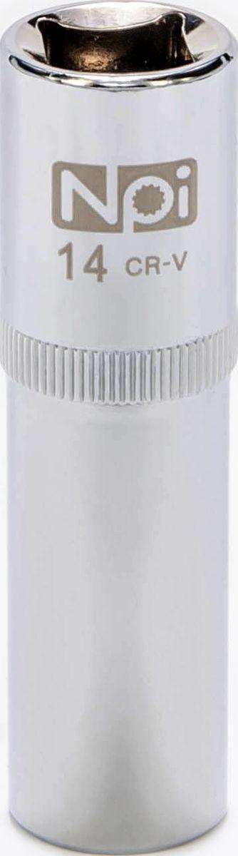 Головка торцевая удлиненная NPI, 1/2, 14 мм20053Головка торцевая удлиненная NPI 1/2. Тип 1/2. Торцевая головка NPI применяется с гайковертами, трещетками, воротками. Торцевая головка выполнена по технологии Суперлок. Торцевая головка обеспечивает максимальный крутящий момент по отношению к резьбе и выдерживает ударные нагрузки. Материал - высокопрочная хром-ванадиевая сталь. Соответствует стандарту DIN 3124.