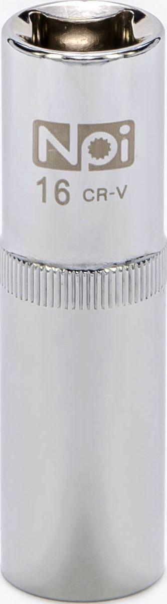 Головка торцевая удлиненная NPI, 1/2, 16 мм20054Головка торцевая удлиненная NPI 1/2. Тип 1/2. Торцевая головка NPI применяется с гайковертами, трещетками, воротками. Торцевая головка выполнена по технологии Суперлок. Торцевая головка обеспечивает максимальный крутящий момент по отношению к резьбе и выдерживает ударные нагрузки. Материал - высокопрочная хром-ванадиевая сталь. Соответствует стандарту DIN 3124.