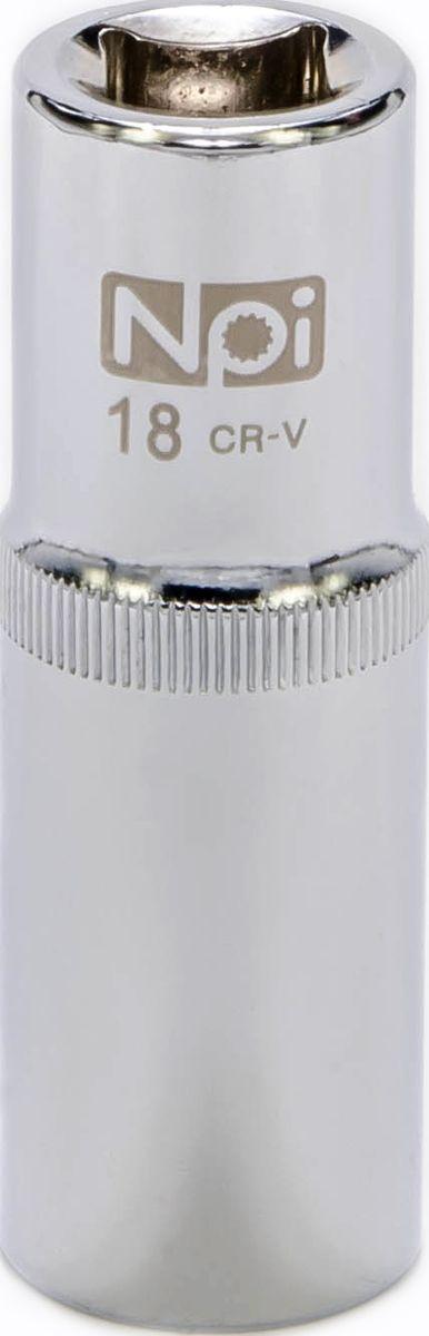 Головка торцевая удлиненная NPI, 1/2, 18 мм20055Головка торцевая удлиненная NPI 1/2. Тип 1/2. Торцевая головка NPI применяется с гайковертами, трещетками, воротками. Торцевая головка выполнена по технологии Суперлок. Торцевая головка обеспечивает максимальный крутящий момент по отношению к резьбе и выдерживает ударные нагрузки. Материал - высокопрочная хром-ванадиевая сталь. Соответствует стандарту DIN 3124.