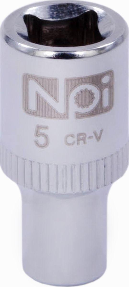 Головка торцевая NPI SuperLock, 1/4, 5 мм20223Головка торцевая NPI 1/4. Тип 1/4. Торцевая головка NPI применяется с гайковертами, трещетками, воротками. Торцевая головка выполнена по технологии Суперлок. Торцевая головка обеспечивает максимальный крутящий момент по отношению к резьбе и выдерживает ударные нагрузки. Материал - высокопрочная хром-ванадиевая сталь. Соответствует стандарту DIN 3124.