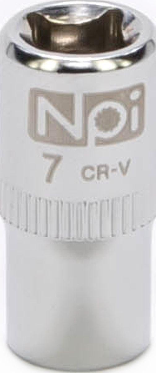 Головка торцевая NPI SuperLock, 1/4, 7 мм20225Головка торцевая NPI 1/4. Тип 1/4. Торцевая головка NPI применяется с гайковертами, трещетками, воротками. Торцевая головка выполнена по технологии Суперлок. Торцевая головка обеспечивает максимальный крутящий момент по отношению к резьбе и выдерживает ударные нагрузки. Материал - высокопрочная хром-ванадиевая сталь. Соответствует стандарту DIN 3124.