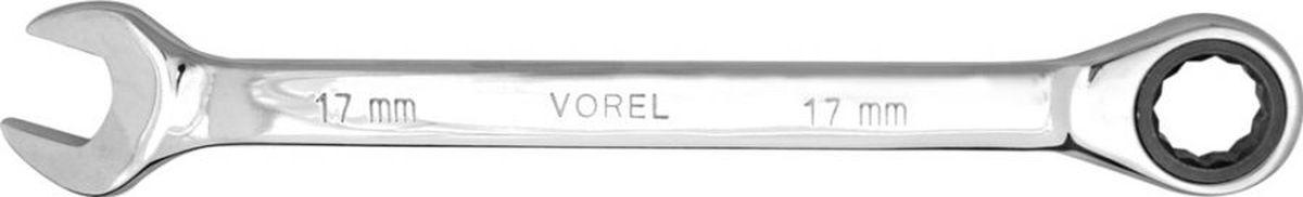 Ключ комбинированный Vorel, с трещоткой, 10 мм52652Ключ комбинированный VOREL с трещоткой, размер 10 мм, выполнен из инструментальной стали CrV.