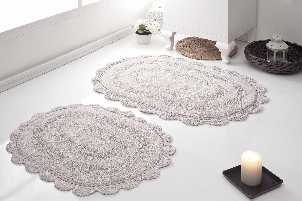 Набор ковриков для ванной Karna Modalin. Diana, цвет: бежевый, 2 шт5024/CHAR002