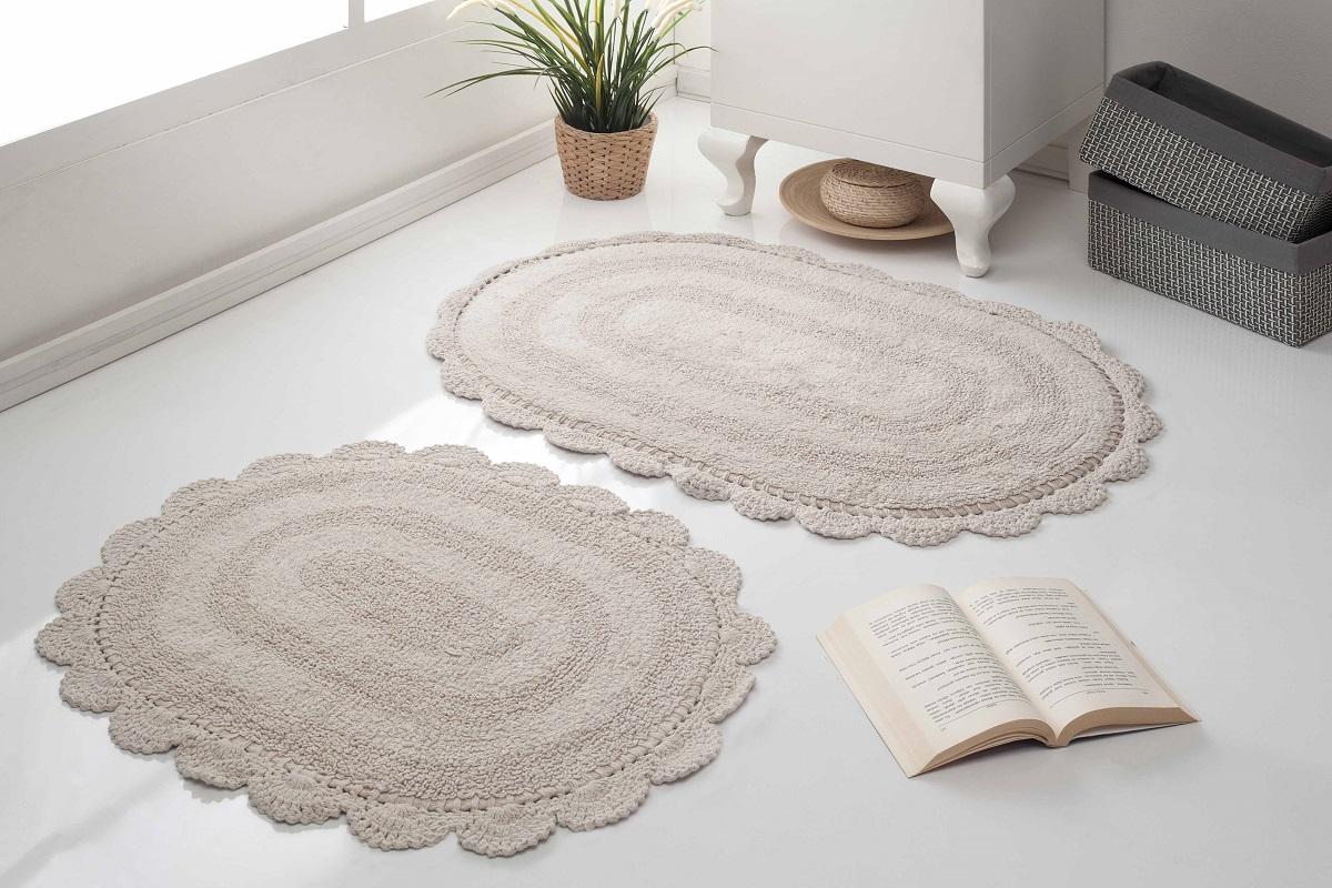 Набор ковриков для ванной Karna Modalin. Diana, цвет: кофейный, 2 шт5024/CHAR003