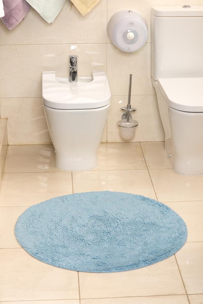 Коврик для ванной Karna Modalin. Corcus, цвет: светло-голубой, 75 х 75 см5041/CHAR004