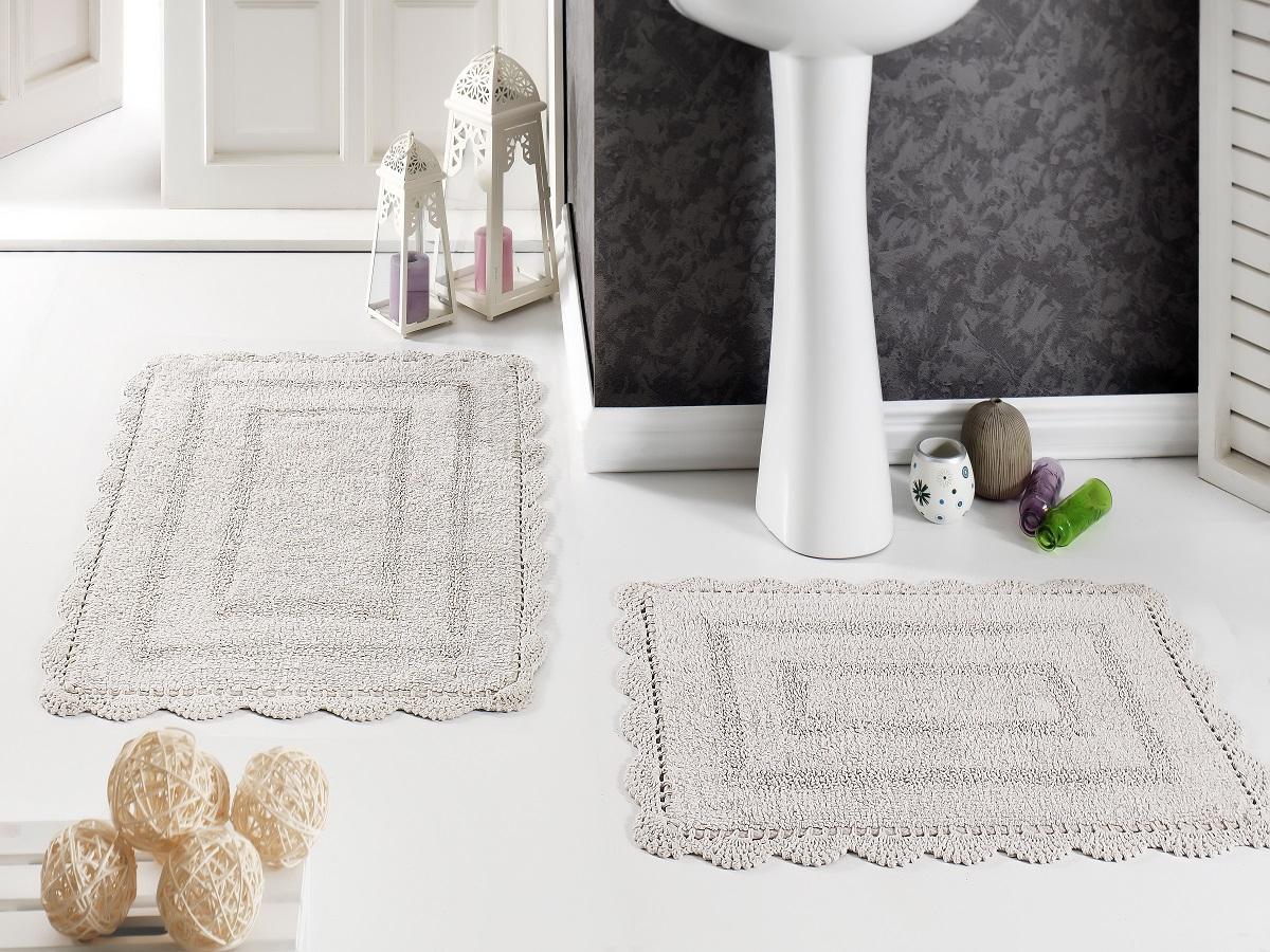 Набор ковриков для ванной Karna Modalin. Evora, цвет: кофейный, 2 шт5088/CHAR003