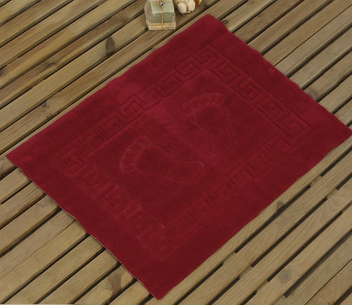Коврик для ванной Karna Likya , цвет: бордовый, 50 х 70 см631/CHAR007
