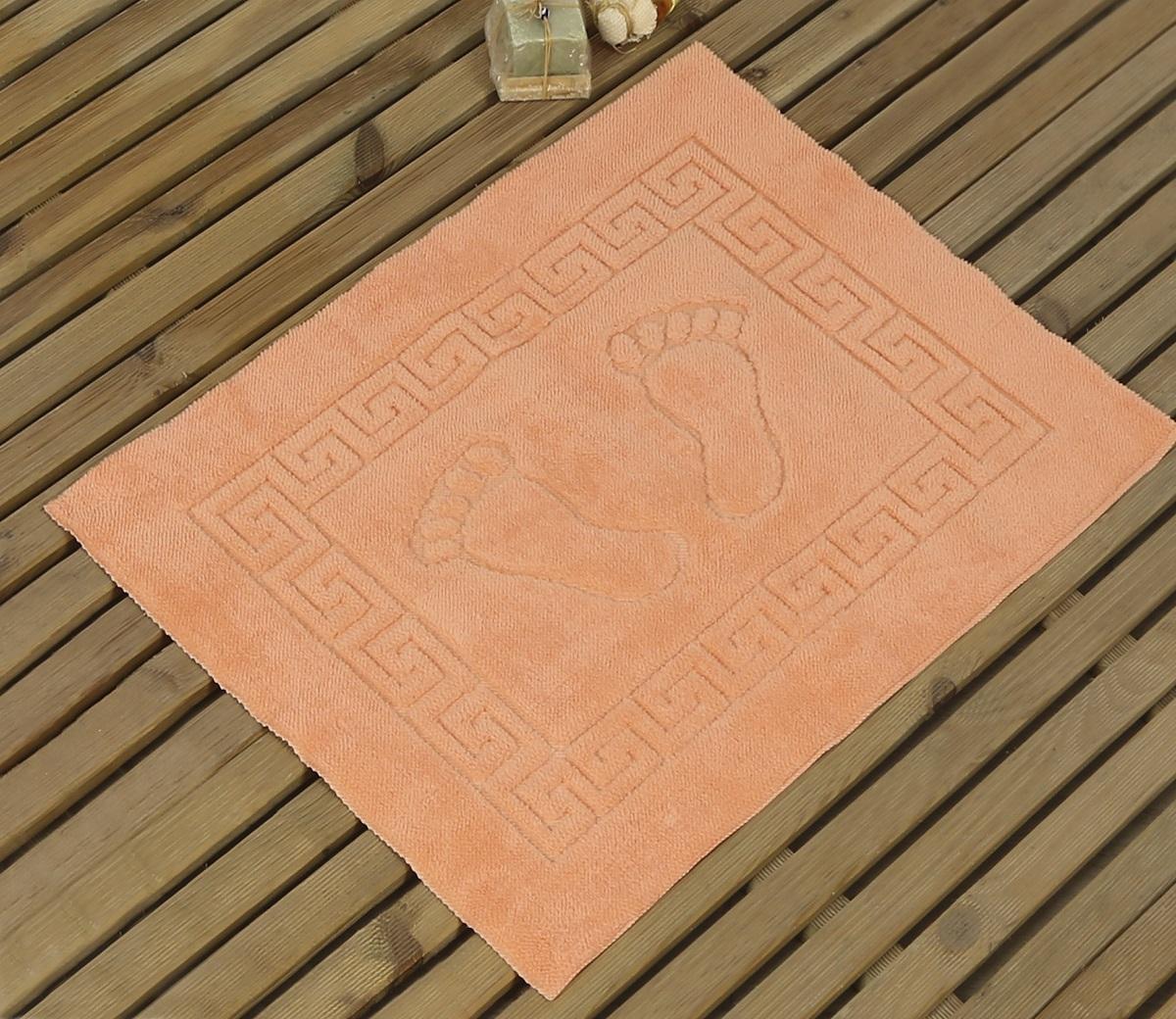 Коврик для ванной Karna Likya , цвет: абрикосовый, 50 х 70 см631/CHAR009