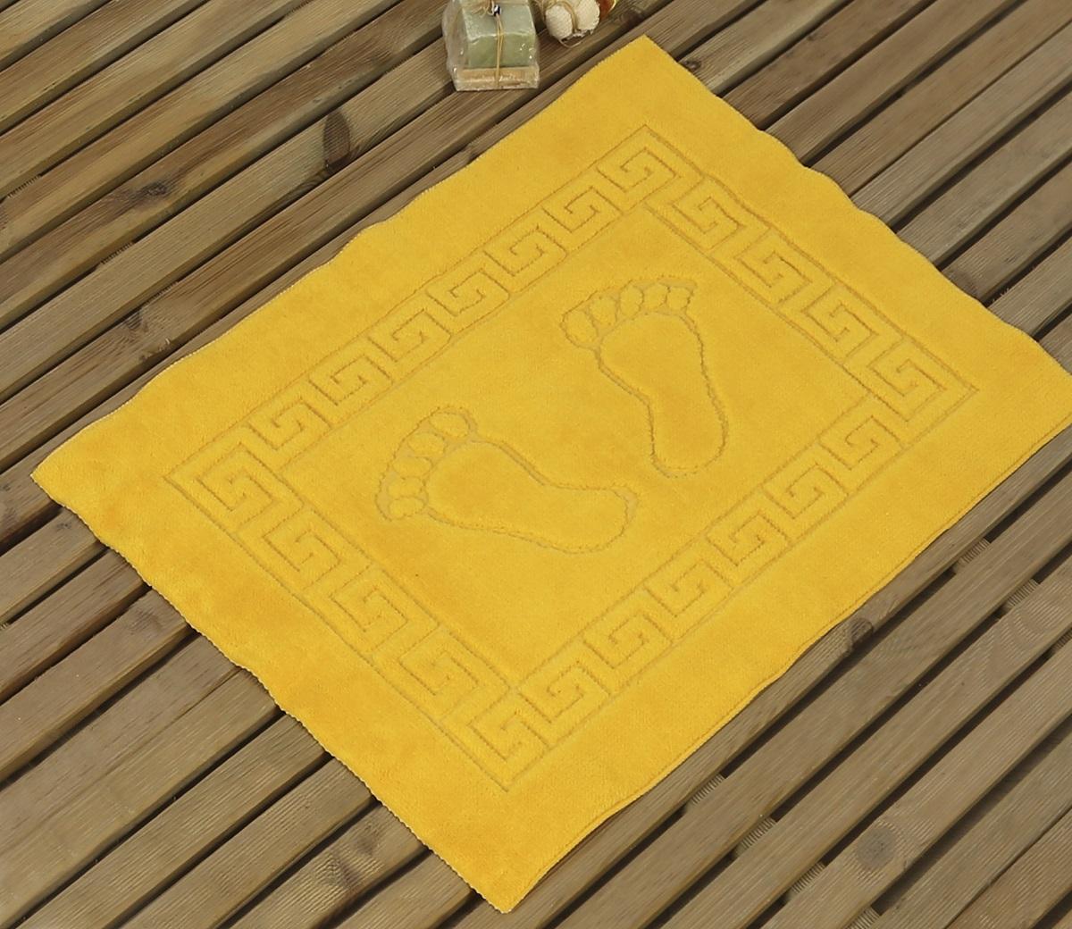 Коврик для ванной Karna Likya , цвет: желтый, 50 х 70 см631/CHAR010