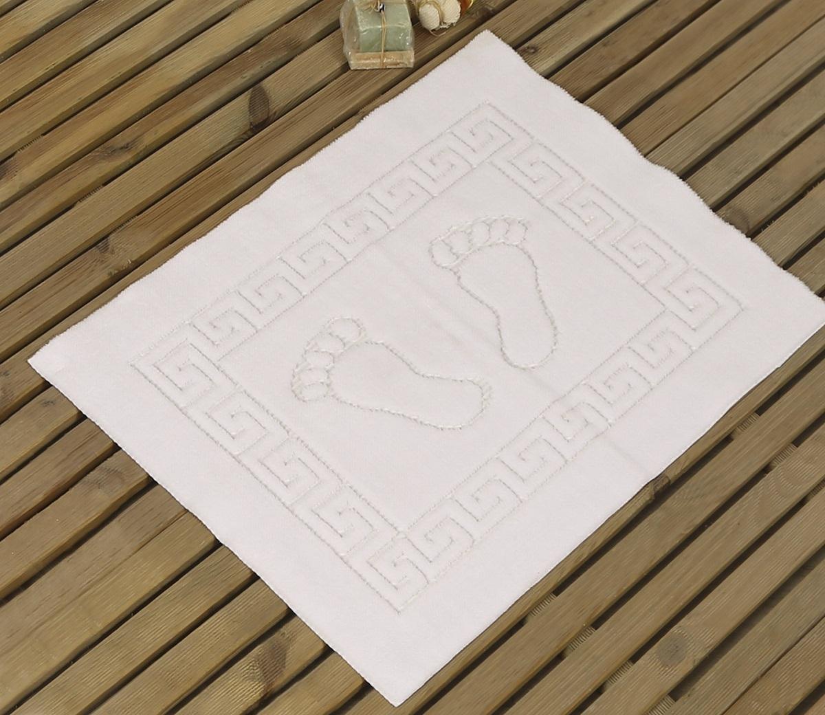 Коврик для ванной Karna Likya , цвет: белый, 50 х 70 см631/CHAR017