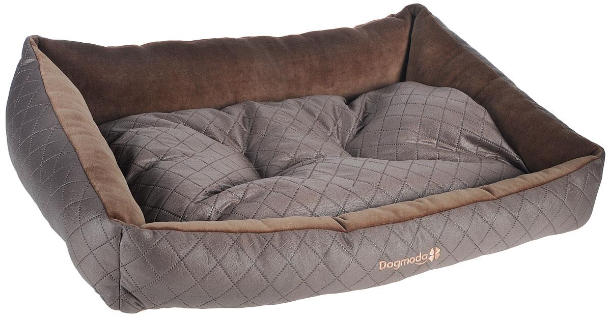 Лежак для животных Dogmoda Шоколад, 74 х 61 х 21 смDM-160113-3Лежак для животных Dogmoda Шоколад прекрасно подойдет для отдыха вашего домашнего питомца. Предназначен для кошек и собак. Изделие выполнено из полиэстера и велюра. Внутри - мягкий наполнитель из холлофайбера, который обеспечивает комфорт и уют. Лежак снабжен съемной подушкой. Роскошный, уютный и стильный лежак Шоколад станет излюбленным местом отдыха для вашего питомца. А стильный дизайн сделает его настоящим украшением интерьера. Размеры: 74 х 61 х 21 см.