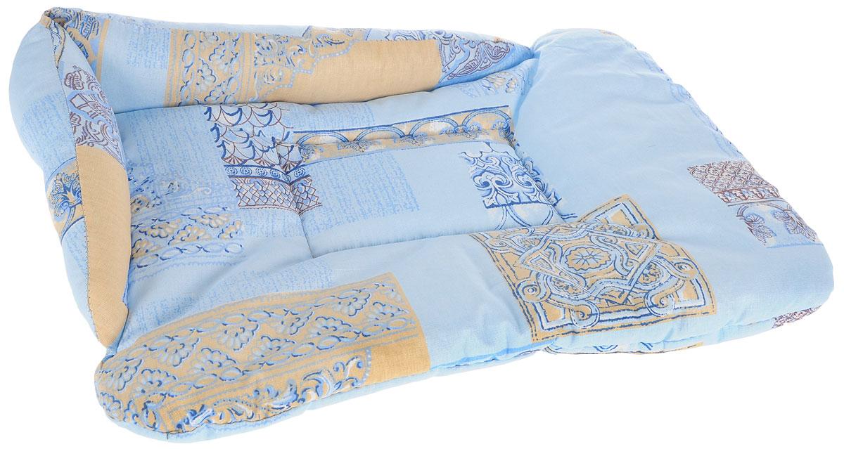 Лежак для животных Elite Valley Софа, цвет: голубой, бежевый, 50 х 38 х 12 см. Л-5/2Л-5/2_голубой, бежевыйЛежак для животных Elite Valley Софа изготовлен из высококачественной бязи, наполнитель - холлофайбер. Он станет излюбленным местом вашего питомца, подарит ему спокойный и комфортный сон, а также убережет вашу мебель от многочисленной шерсти. На таком лежаке вашему любимцу будет мягко и тепло.