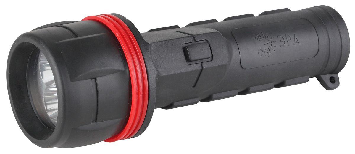 Фонарь ручной ЭРА, 3xLED, 2xDR2DСветодиодный обрезиненный фонарь: 3 белых светодиода ремешок на запястье 2xD (в комплект не входят)