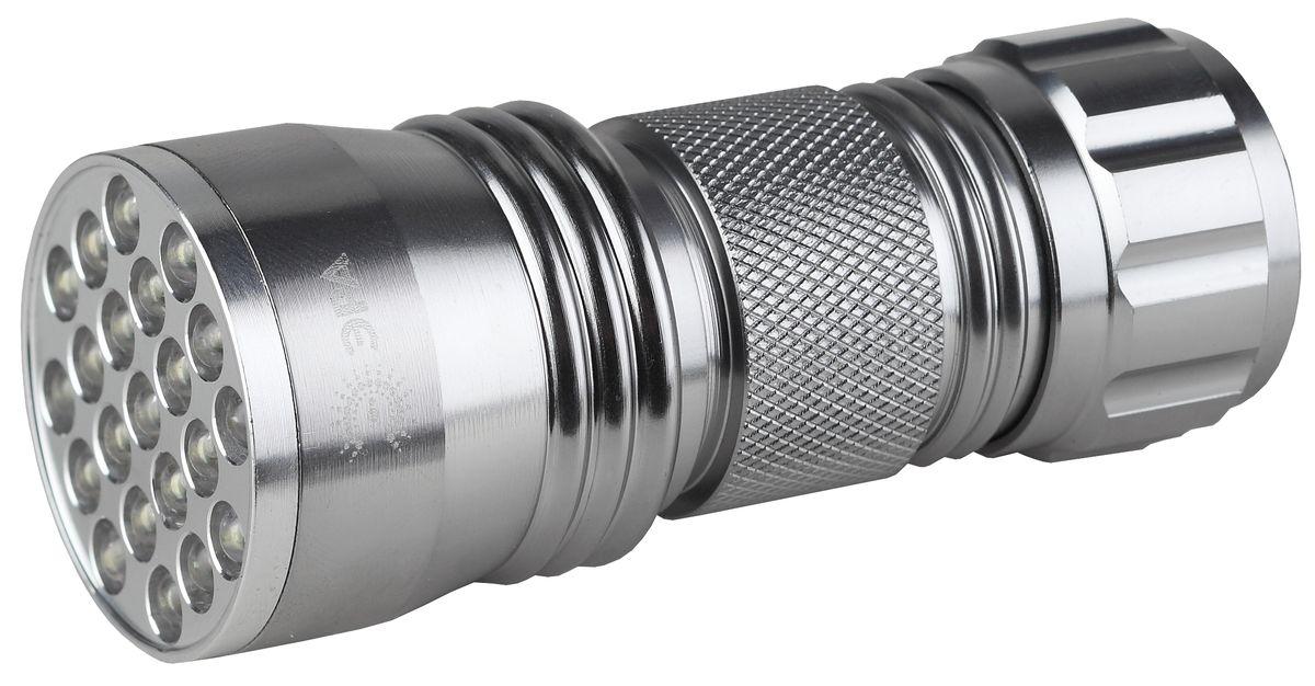 Фонарь ручной ЭРА, 21xLEDSD21Светодиодный алюминиевый фонарь: 21 белый светодиод 3xAAA (в комплект не входят)