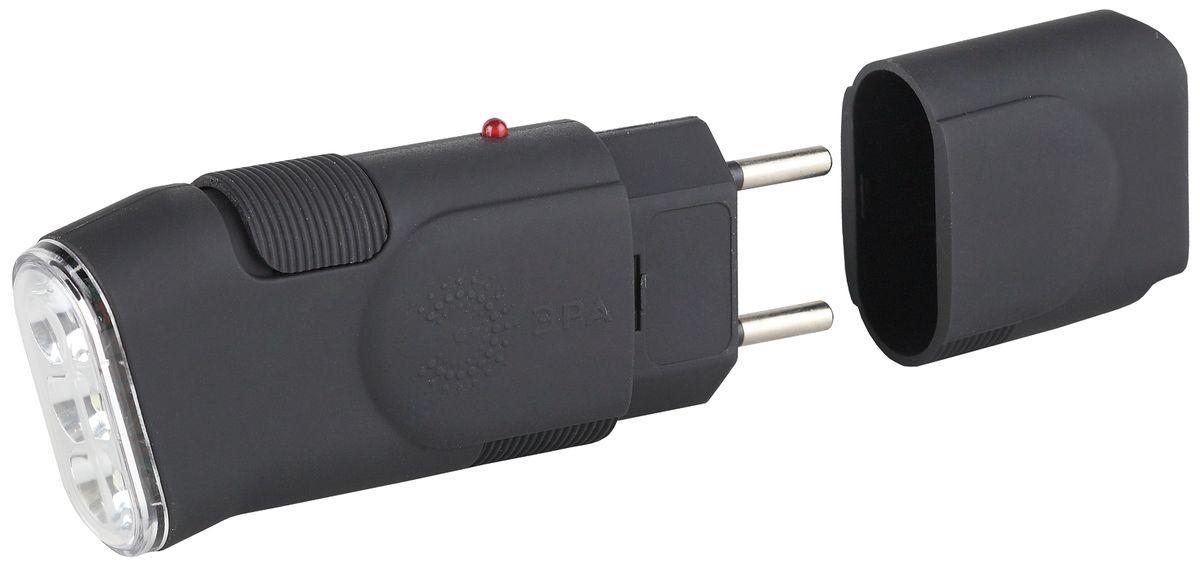 Фонарь ручной ЭРА, 3xLEDSDA10MКомпактный аккумуляторный светодиодный фонарь: 3 белых светодиода Ni-MH аккумулятор типа AAA евровилка, прямая зарядка от сети 220V 3 часа работы без подзарядки