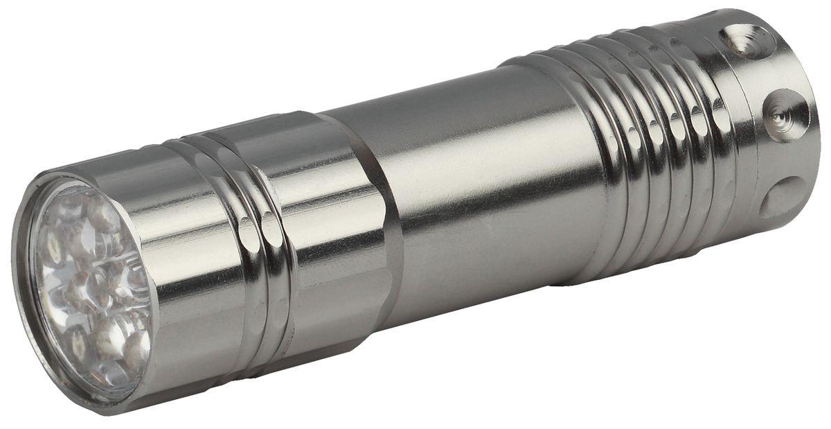 Фонарь ручной Трофи, 9xLEDTM9Светодиодный алюминиевый фонарь: 9 белых светодиодов ремешок для запястье 3xAAA (в комплект не входят) упаковка: картонная коробка