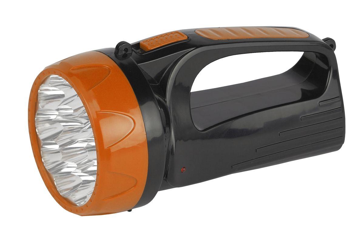 Фонарь ручной Трофи, 15хLED, аккумулятор 4V1.5Ah, 2 режимаTSP10Аккумуляторный светодиодный фонарь: 15 белых LED (2 режима работы - 10 и 15) Аккумулятор 4V 1.5Ah прямая подзарядка от 220V