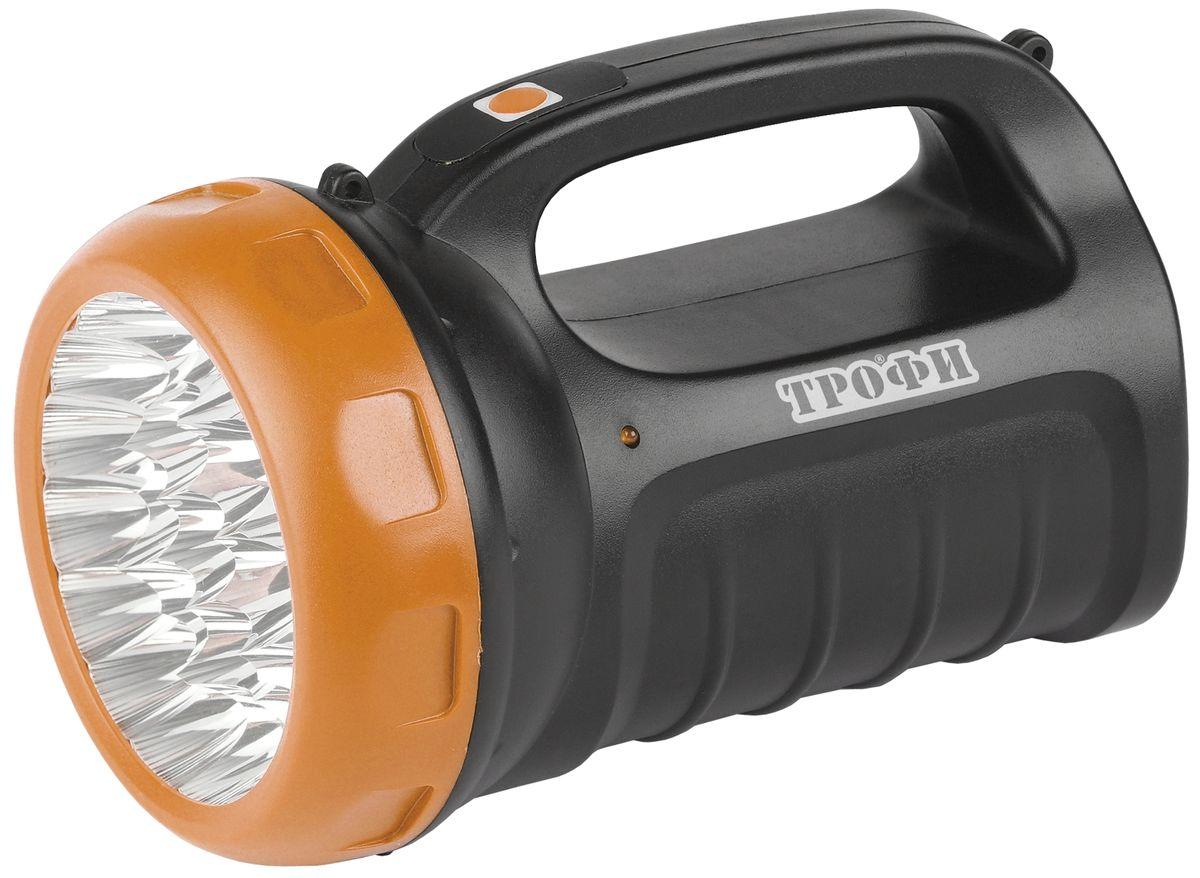 Фонарь ручной Трофи, 23xLED, аккумулятор 4V2.4Ah, ЗУ 220VTSP23Аккумуляторный светодиодный фонарь: 23 белых LED (3 режима работы - 50%, 100%, мигание) Аккумулятор 4V 2,4Ah зарядка от 220V