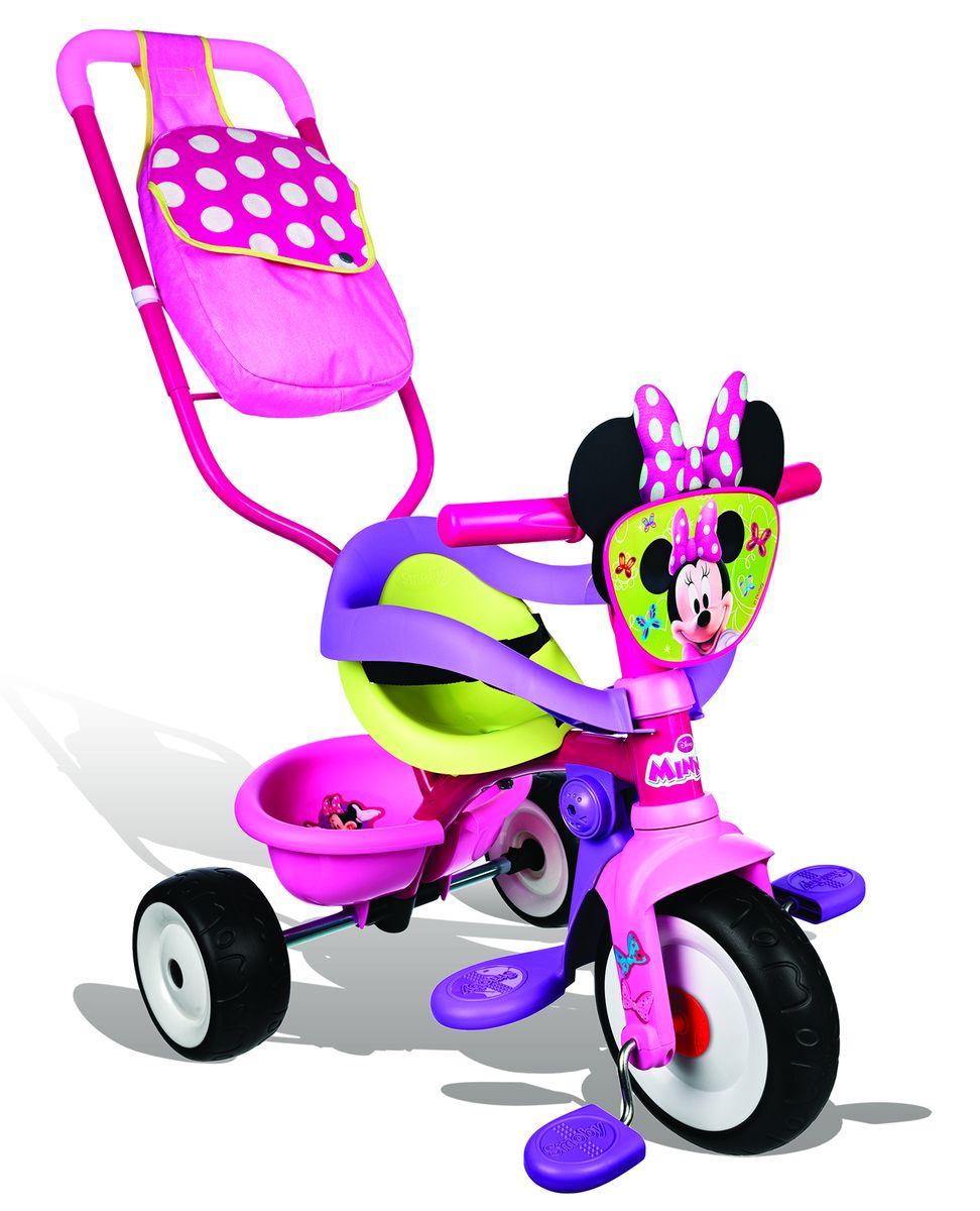 Smoby Велосипед-трансформер трехколесный с сумкой Minnie