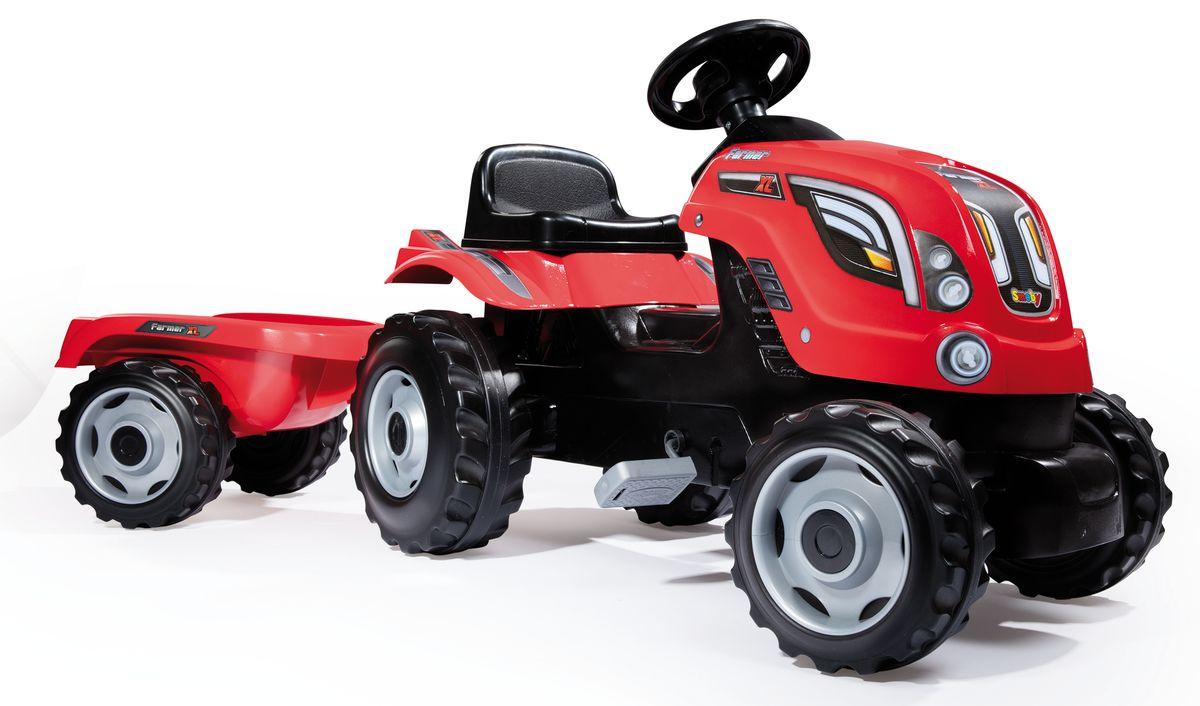 Smoby Трактор педальный XL с прицепом цвет красный