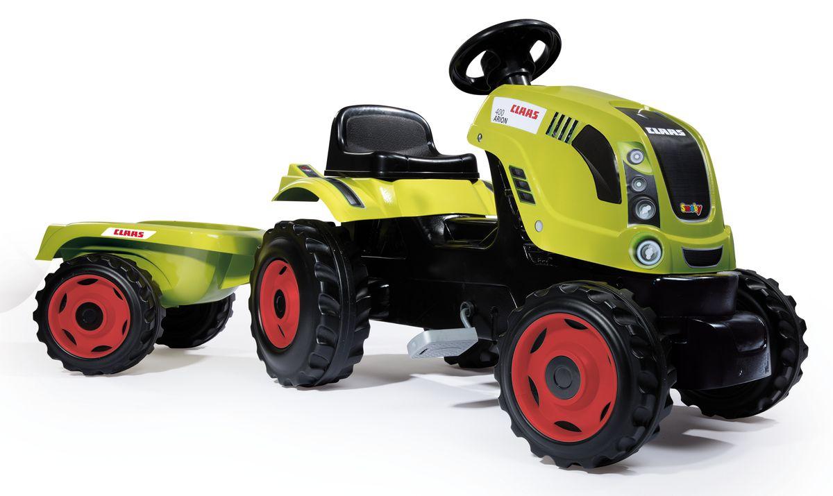 Smoby Трактор педальный XL с прицепом CLAAS