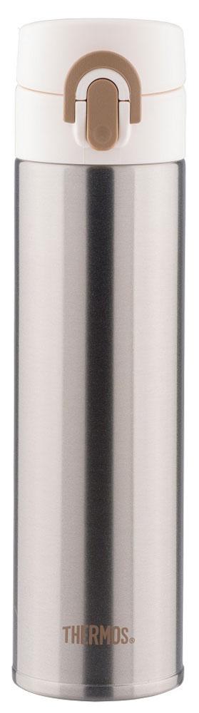 Термос Thermos, цвет: черный матовый, 0,4 л. JNI-400259158Это серия суперлегких и супертонких (наименьший диаметр) термосов, созданная по последним разработкам специалистов компании Thermos. При объеме 400 ml, термос весит всего лишь 190 г.